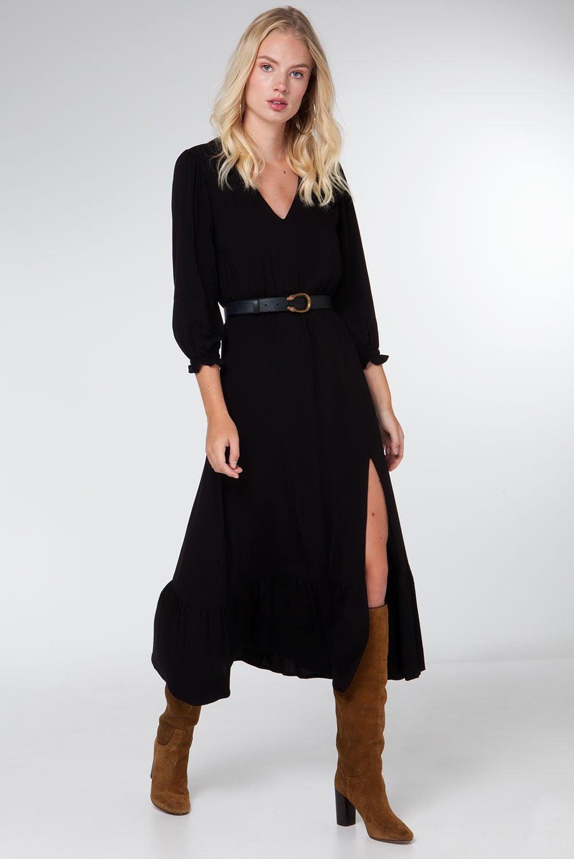 Midi slit dress