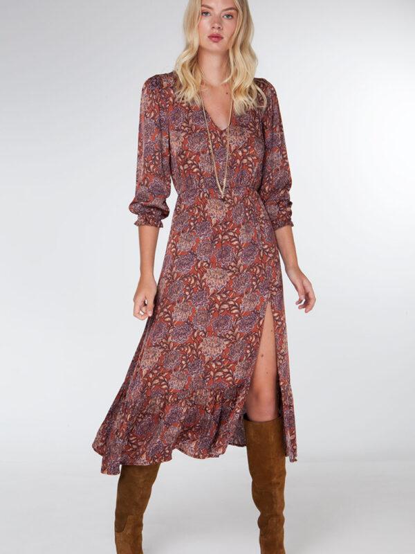 Floral slit dress