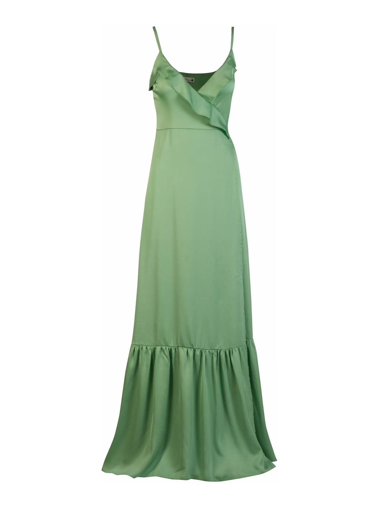 Camellia satin dress