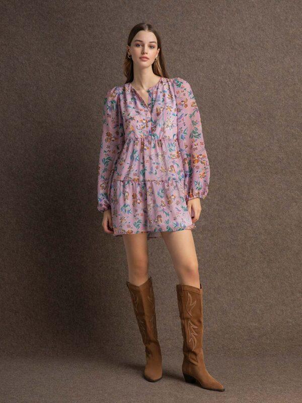 Sarah chiffon dress